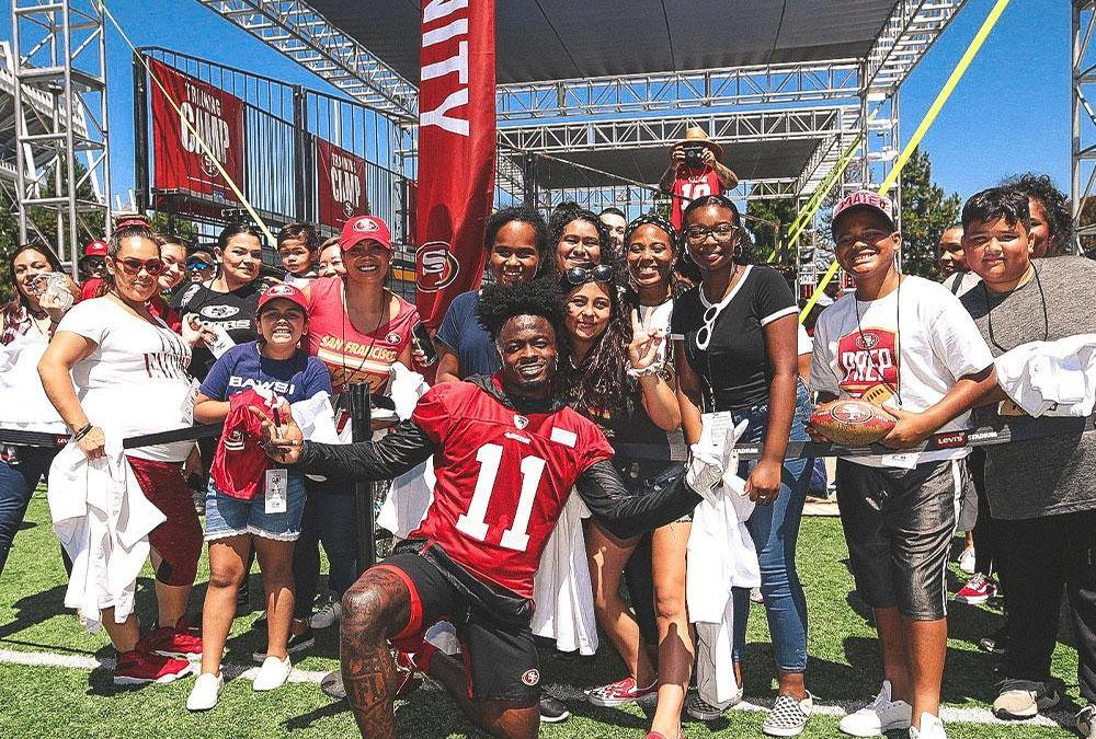 San Francisco 49er's Community Welcome WANDA Moms
